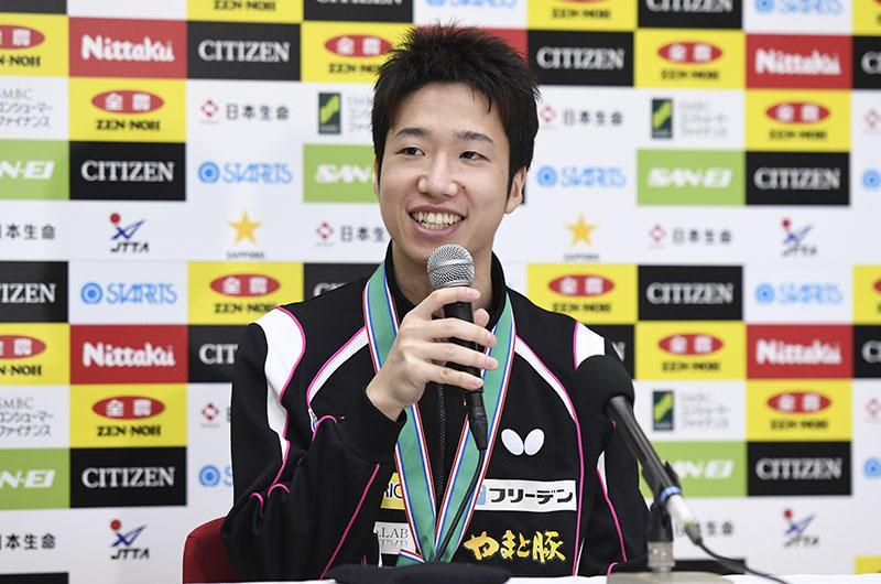 64585dd0e3c 男子シングルス優勝 水谷隼「今年もめちゃくちゃ苦しかった」 | 卓球レポート