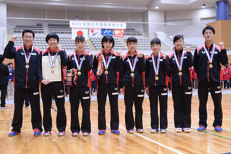 6ff478baab9 第20回全国中学選抜卓球大会 〜女子は貝塚第二が初優勝〜 | 卓球レポート